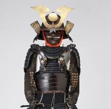 鉄黒漆塗り胸取互の目頭樋側二枚胴具足
