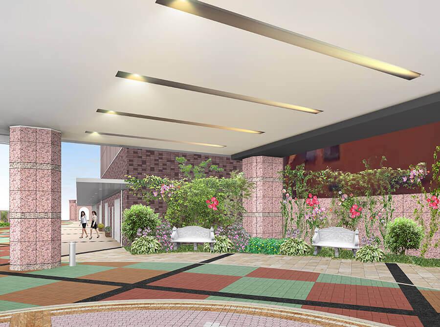 栄タワーヒルズイメージ 正面玄関前
