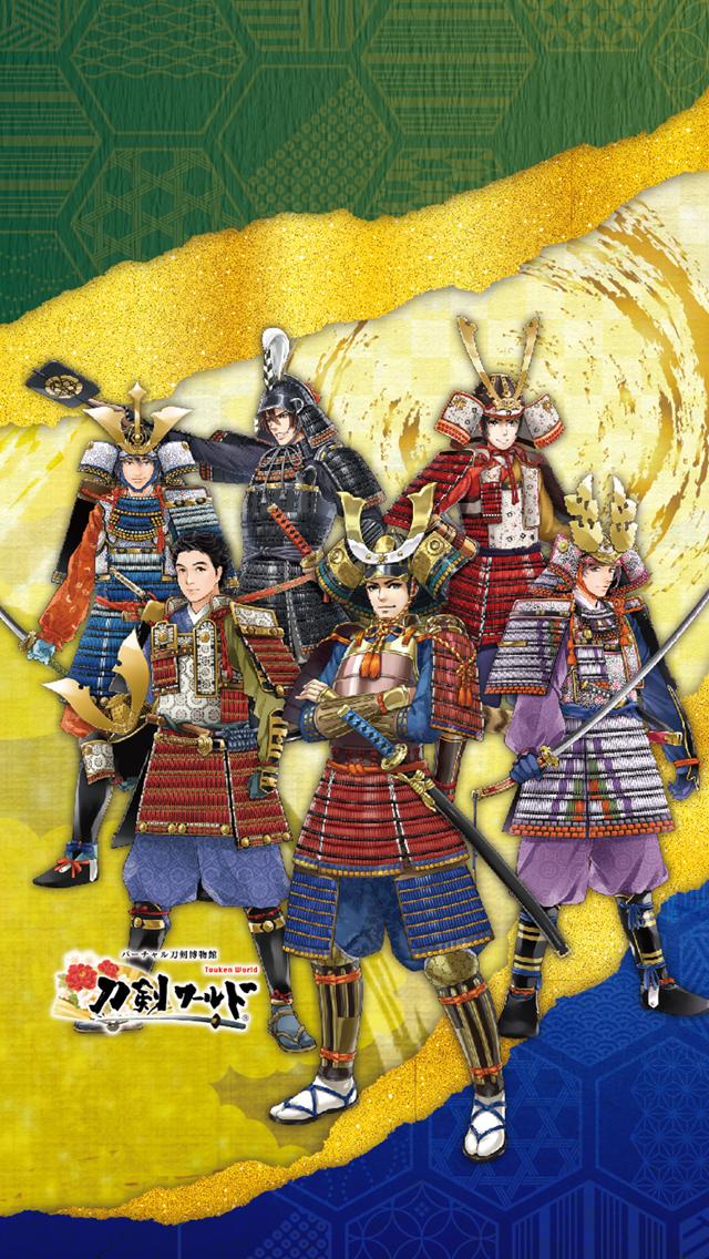 刀剣キャラクターのイラスト壁紙10 女性